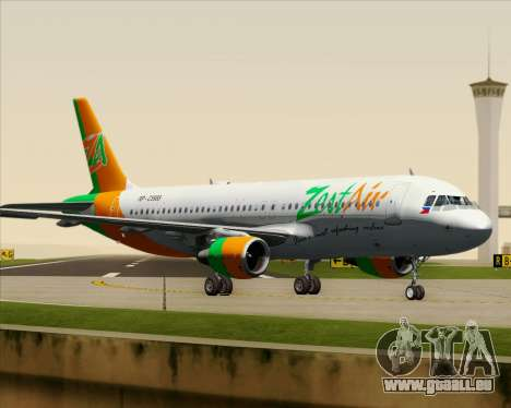 Airbus A320-200 Zest Air für GTA San Andreas Unteransicht