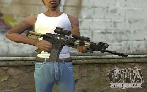 M4 MGS Aimpoint v2 für GTA San Andreas dritten Screenshot