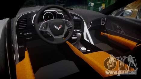 Chevrolet Corvette C7 Stingray 2014 v2.0 TireYA3 pour GTA 4 est une vue de l'intérieur