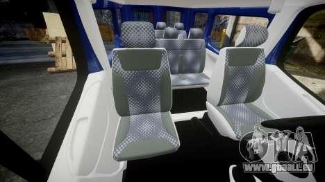 Renault Trafic Passenger für GTA 4 Innenansicht