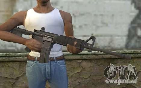 M4 de tireur d'élite Guerrière Fantôme pour GTA San Andreas troisième écran