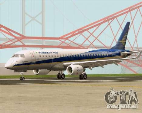Embraer E-190-200LR House Livery pour GTA San Andreas laissé vue