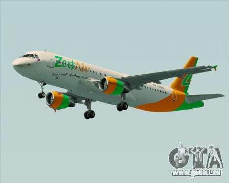 Airbus A320-200 Zest Air pour GTA San Andreas vue de droite
