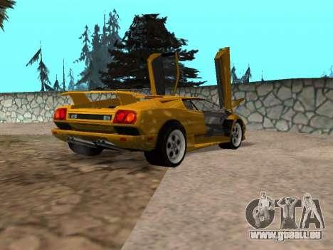 Lamborghini Diablo pour GTA San Andreas laissé vue