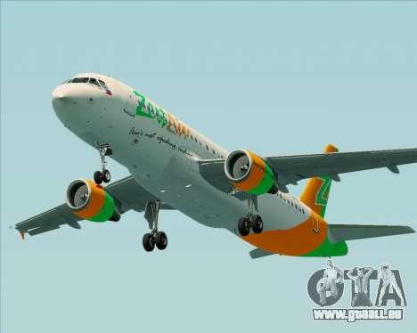 Airbus A320-200 Zest Air pour GTA San Andreas moteur