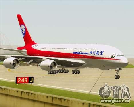 Airbus A380-800 Sichuan Airlines für GTA San Andreas zurück linke Ansicht