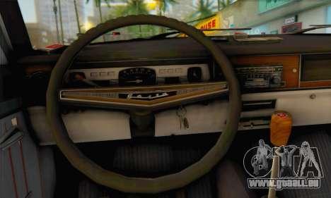 GAZ 24-02 pour GTA San Andreas sur la vue arrière gauche