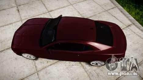 Chevrolet Camaro SS [ELS] Unmarked runners für GTA 4 rechte Ansicht