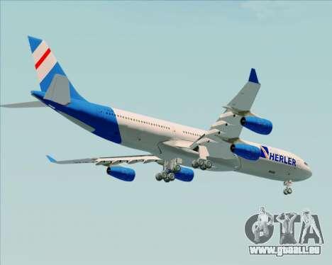 Airbus A340-300 Air Herler pour GTA San Andreas vue de dessous