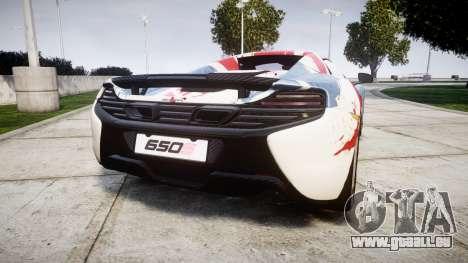 McLaren 650S Spider 2014 [EPM] v2.0 UK pour GTA 4 Vue arrière de la gauche