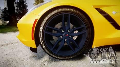 Chevrolet Corvette C7 Stingray 2014 v2.0 TireCon pour GTA 4 Vue arrière