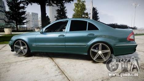 Mercedes-Benz W211 E55 AMG Vossen VVS CV5 für GTA 4 linke Ansicht