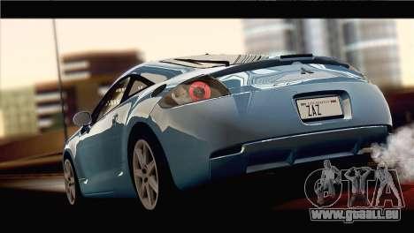 Mitsubishi Eclipse 2006 pour GTA San Andreas laissé vue