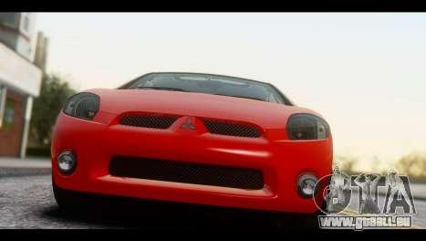 Mitsubishi Eclipse 2006 pour GTA San Andreas sur la vue arrière gauche