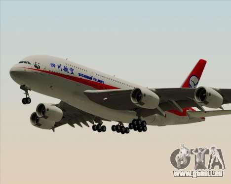 Airbus A380-800 Sichuan Airlines pour GTA San Andreas laissé vue