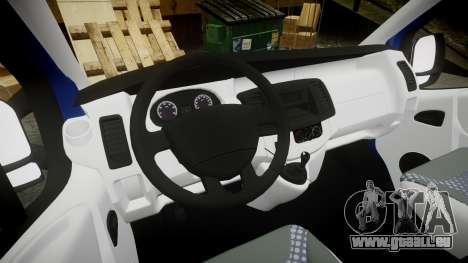 Renault Trafic Passenger pour GTA 4 Vue arrière