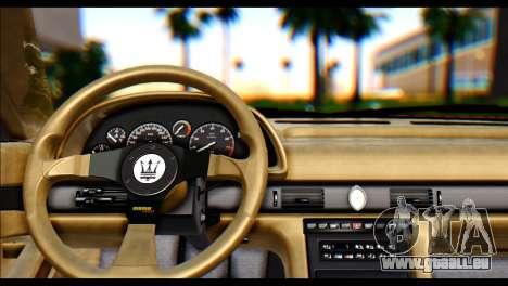 Maserati Ghibli II Cup (AM336) 1995 [ImVehFt] für GTA San Andreas zurück linke Ansicht