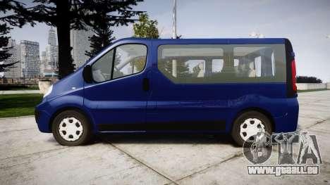Renault Trafic Passenger pour GTA 4 est une gauche