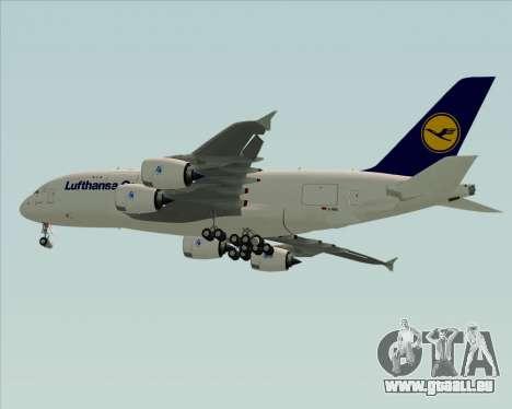 Airbus A380-800F Lufthansa Cargo für GTA San Andreas rechten Ansicht