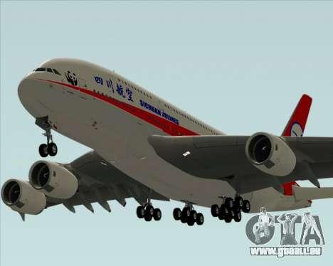 Airbus A380-800 Sichuan Airlines pour GTA San Andreas moteur