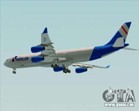Airbus A340-300 Air Herler pour GTA San Andreas vue arrière