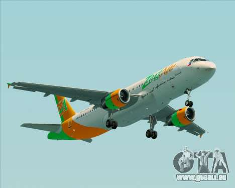 Airbus A320-200 Zest Air für GTA San Andreas Innenansicht