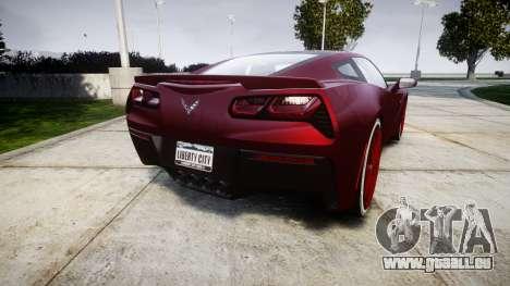 Chevrolet Corvette C7 Stingray 2014 v2.0 TireKHU für GTA 4 hinten links Ansicht