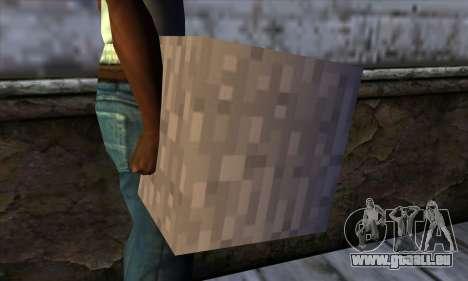 Bloc (Minecraft) v13 pour GTA San Andreas troisième écran