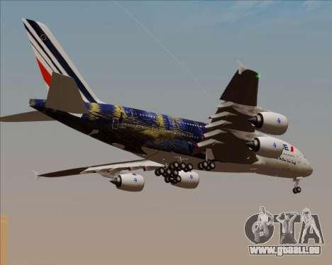 Airbus A380-800 Air France pour GTA San Andreas vue de côté