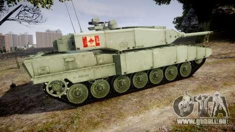 Leopard 2A7 CA Green pour GTA 4 est une gauche