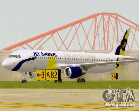 Airbus A320-200 Jet Airways für GTA San Andreas linke Ansicht