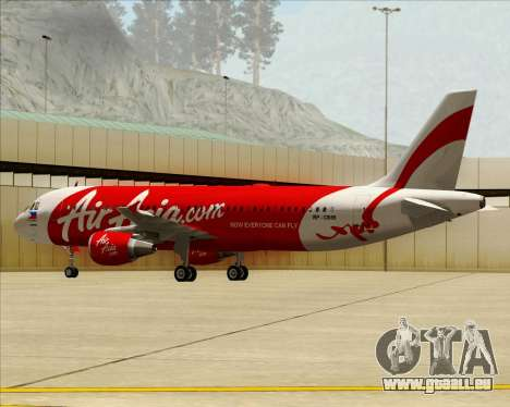 Airbus A320-200 Air Asia Philippines pour GTA San Andreas vue intérieure