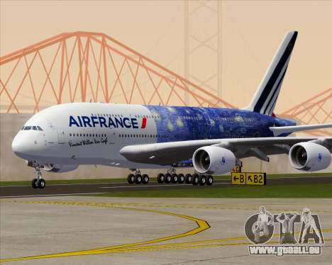 Airbus A380-800 Air France für GTA San Andreas Unteransicht