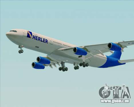 Airbus A340-300 Air Herler pour GTA San Andreas vue de côté