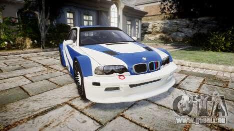 BMW M3 E46 GTR Most Wanted plate NFS Pro Street pour GTA 4