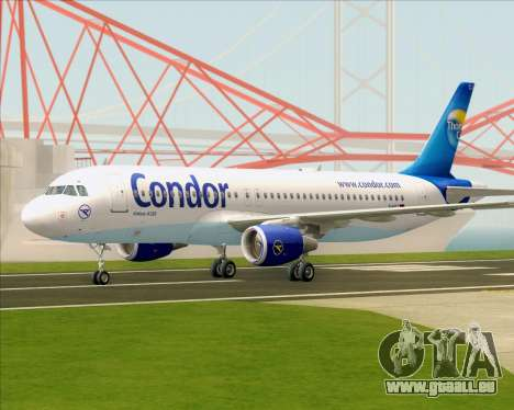Airbus A320-200 Condor für GTA San Andreas zurück linke Ansicht