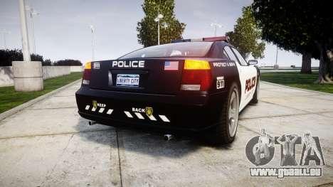 Bravado Buffalo Police LCPD pour GTA 4 Vue arrière de la gauche