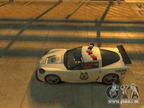 Chevrolet Corvette Z06 Police pour GTA 4 est une vue de l'intérieur