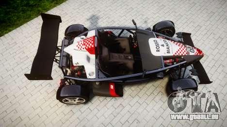 Ariel Atom V8 2010 [RIV] v1.1 Rosso & Bianco für GTA 4 rechte Ansicht
