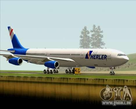 Airbus A340-300 Air Herler pour GTA San Andreas vue intérieure