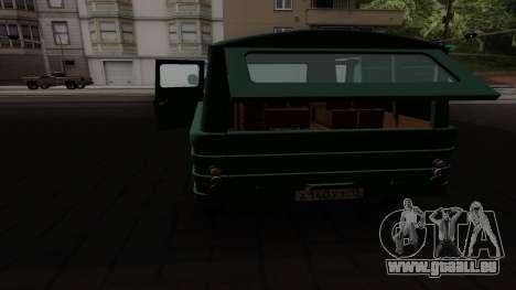 Zuk A06 für GTA San Andreas Rückansicht