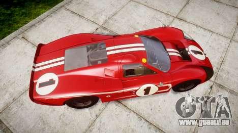 Ford GT40 Mark IV 1967 PJ 1 pour GTA 4 est un droit
