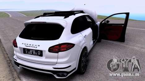 Porsche Cayenne Turbo S GTS 2015 pour GTA San Andreas sur la vue arrière gauche
