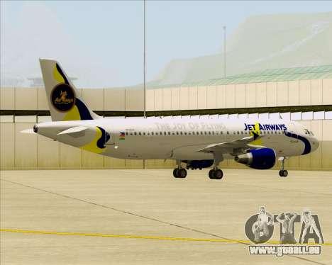 Airbus A320-200 Jet Airways pour GTA San Andreas vue intérieure