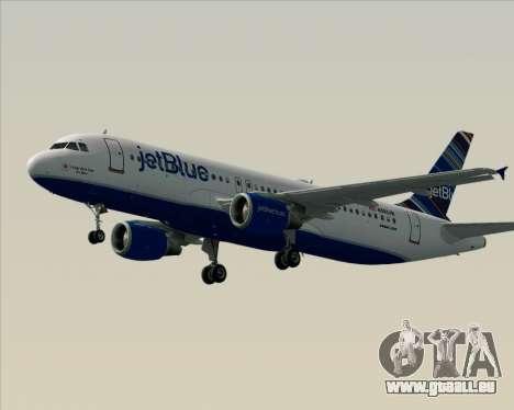 Airbus A320-200 JetBlue Airways pour GTA San Andreas vue de dessous