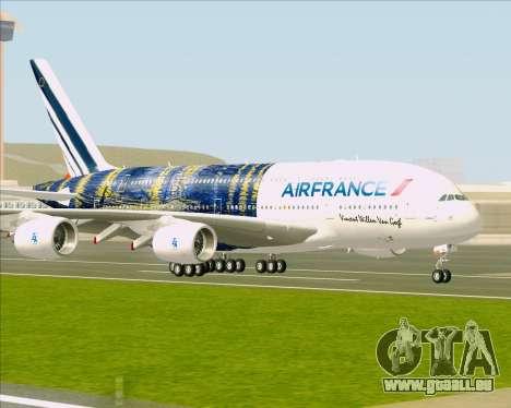 Airbus A380-800 Air France pour GTA San Andreas sur la vue arrière gauche