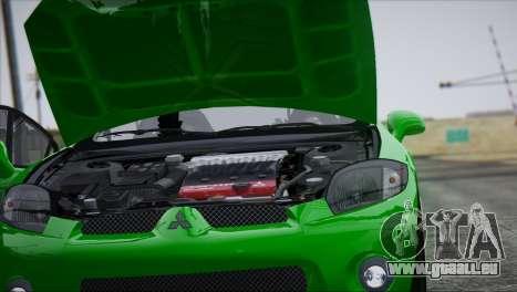 Mitsubishi Eclipse 2006 für GTA San Andreas Unteransicht