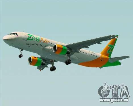 Airbus A320-200 Zest Air für GTA San Andreas Räder