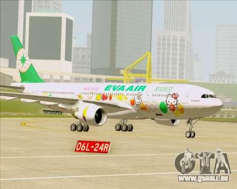Airbus A330-200 EVA Air (Hello Kitty) für GTA San Andreas Räder