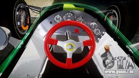 Lotus 49 1967 black für GTA 4 Rückansicht
